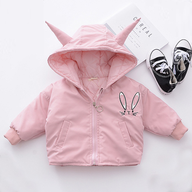 Adorable Bunny Ears Thickened Jacket