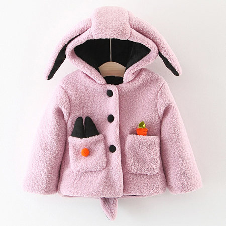 Bunny Ears Thickened Hooded Outerwear