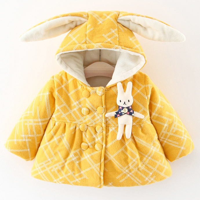 Bunny Ears Thickened Outerwear