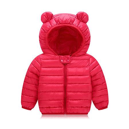 Cartoon Bear Hooded Zipper Coat