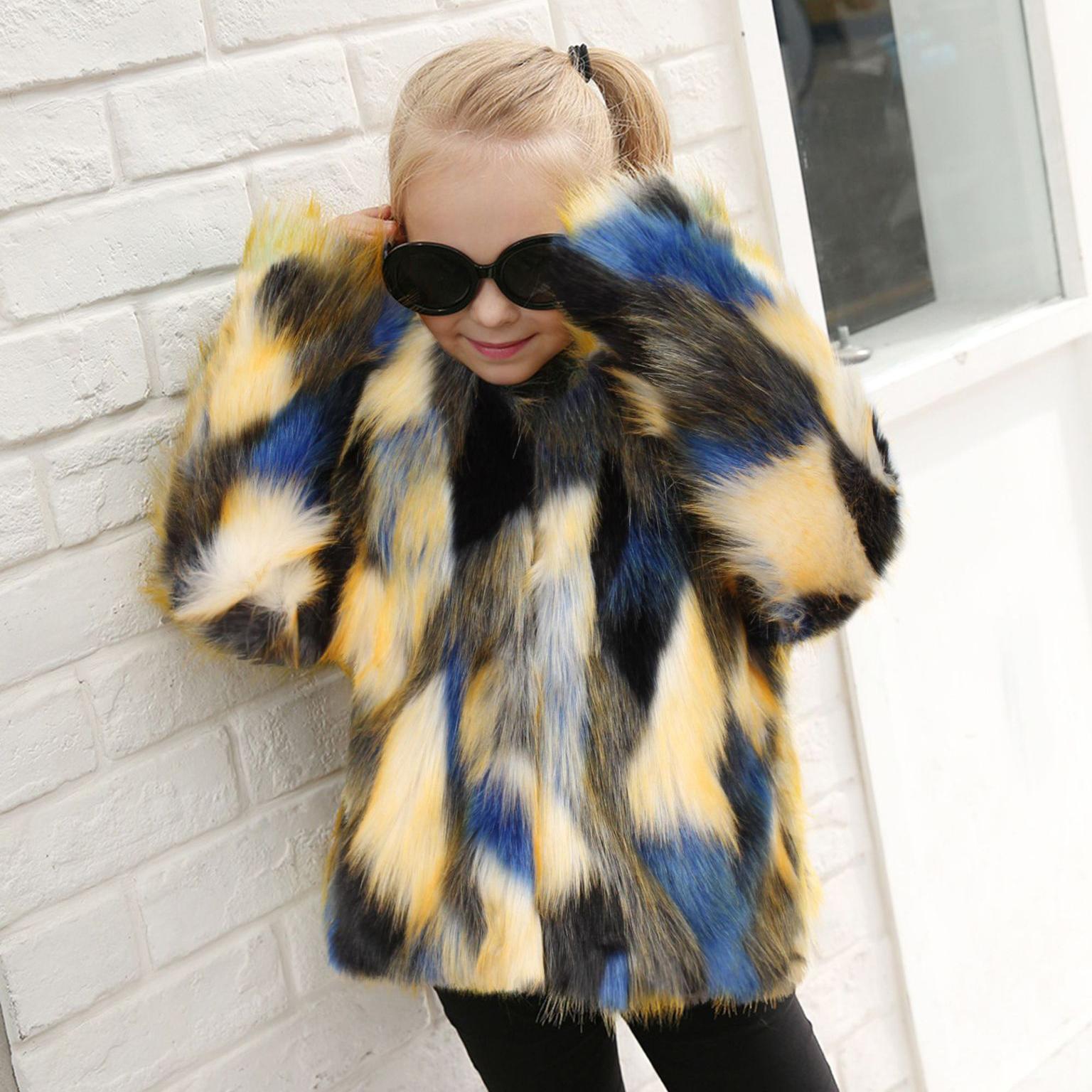 Color Block Fur Outwear