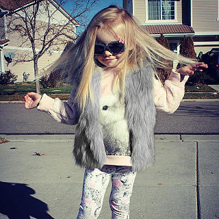 Solid Color Fur Vest