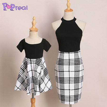 1656e034f3e Mom Girl Plaid Matching Dress