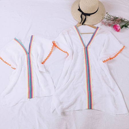 Mom Girl Colorful Stripes Matching Pullover