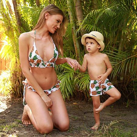 Pineapple Prints Family Matching Swimwear