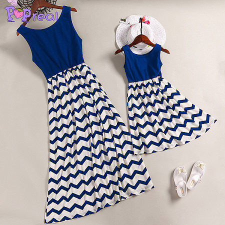 Mom Girl Stripes Skater Matching Dress