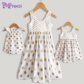 Mom Girl Polka Dots Matching Outfits
