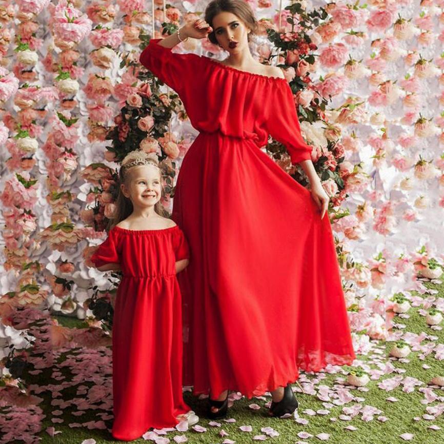 Off Shoulder Solid Color Matching Dress