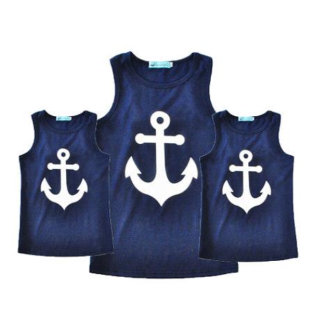 Anchor Pattern Summer Family T-Shirt