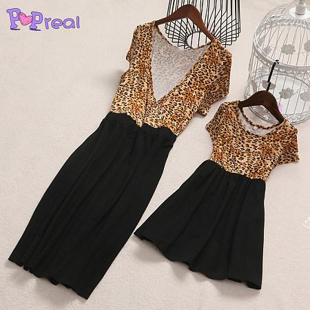 Mom Girl Leopard Print Dress
