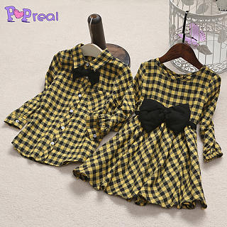 17a571c1a0a8 Sister Brother Yellow Plaid Bowknot Matching Outfits Only $9.35 -  popreal.com