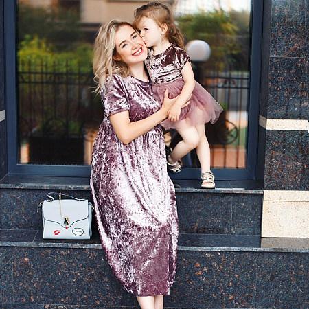 8bed591be Mom Girl Velvet Tulle Matching Dress Only $11.11 - popreal.com