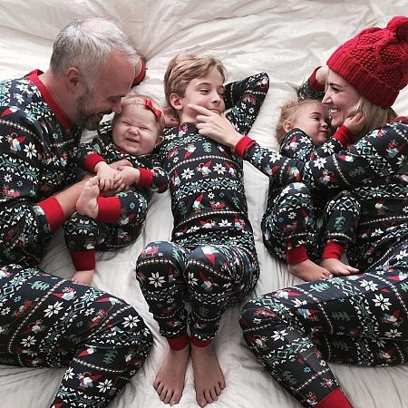 Christmas Family Geometric Pattern Outfits, 5653619