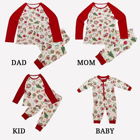 Christmas Decoration Prints Matching Family Pajamas, 5699913