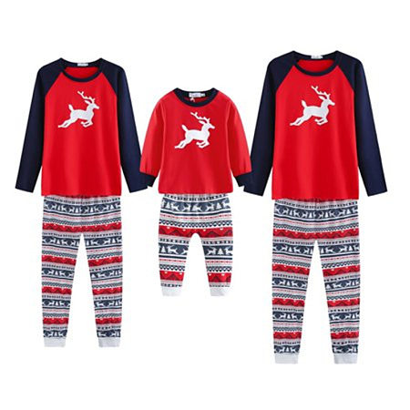 Christmas Reindeer Geometric Pattern Matching Family Pajamas, 5699951