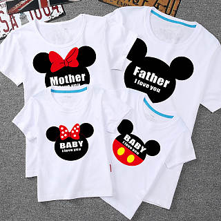 Cartoon Character Pattern Family Matching Top