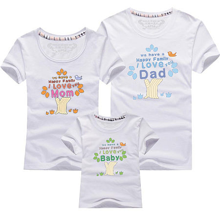 Letter Pattern Family Matching Outfits, 6325471