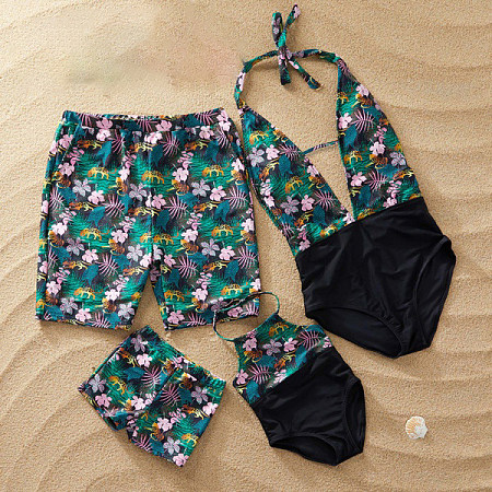 Floral Prints Family Matching Beachwear, 6602402