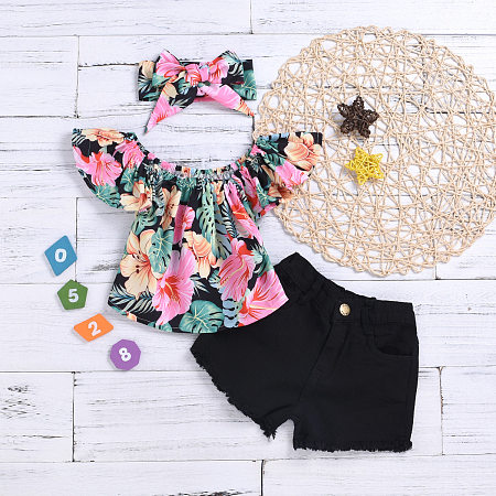 Floral Prints Bowknot Decorate Sets