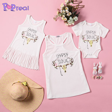 Reindeer Print Family Summer Outfits