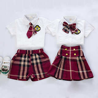 Brother Sister British Style Two Pieces Set