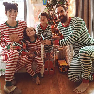 Stripes Top And Pants Family Matching Two Pieces Sets