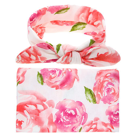 Baby Floral Print Photo Props With Headband