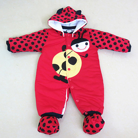 Adorable Giraffe And Ladybird Pattern Romper