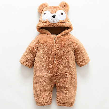 Adorable Bear Style Plush Rompers