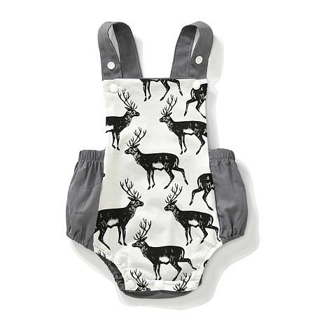 Animal Print Suspender Sleeveless Summer Romper