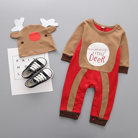 Long Sleeve Christmas Baby Clothes Jumpsuit, 5356644