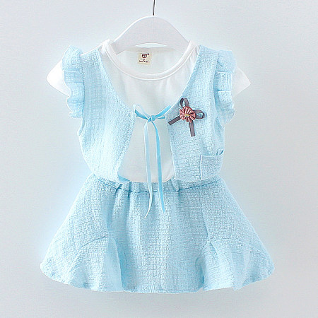 Bowknot Girls Two Pieces Set