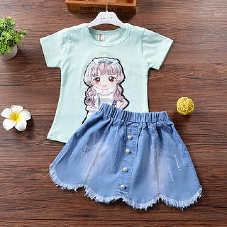 Cute Pattern Girls Two Pieces Set