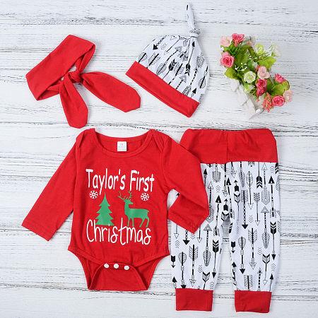 Christmas Tree Reindeer Pattern Arrow Prints Set