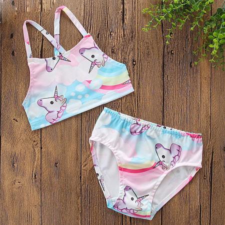 Cartoon Animals Pattern Cami Swimwear
