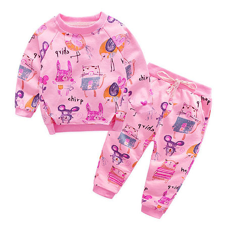 Cartoon Animals Pattern Two Pieces Set