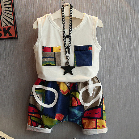 Abstract Color Block Two Pieces Sets