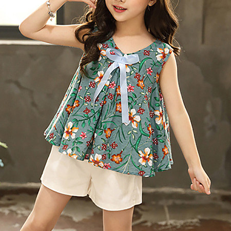 Sling Floral T-Shirt Shorts Set