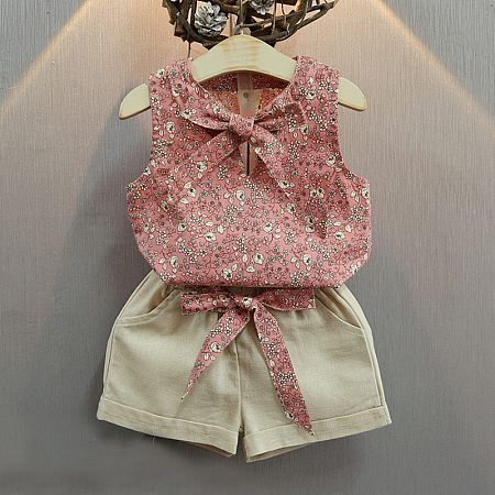 Floral Prints Girls Two Pieces Set