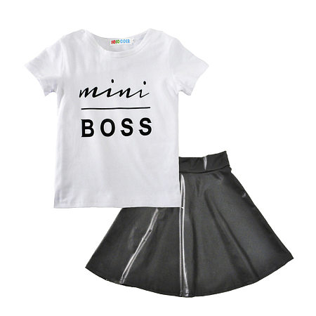 Fashion Girl Letter Printing Two Pieces Set