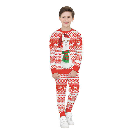 Christmas Alpaca Pattern Color Block Sets