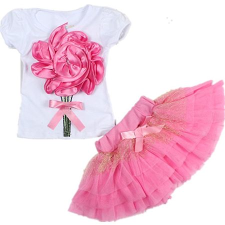 Big Flower Tulle Two Pieces Set
