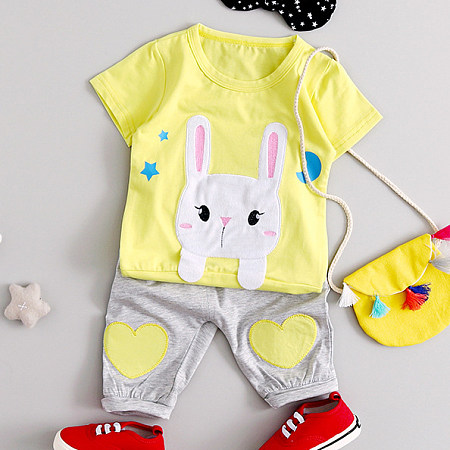 Bunny Style Girls Two Pieces Set Without Bag