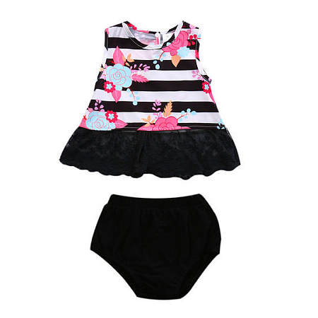 Baby Girls Floral Print Two Pieces Set