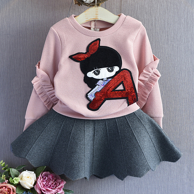 Cartoon Little Girls Pattern Cute Top