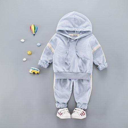 Solid Color Drawstring Hooded Sport Sets