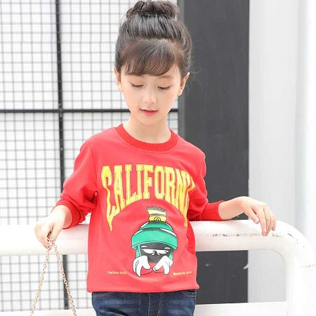 Cartoon Pattern Letter Print Pullover Top