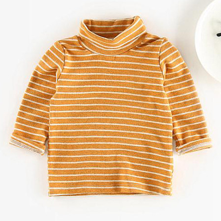 Stripes High Neck Cotton Tee