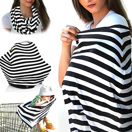 Stripe Multifunctional Nursing Cover