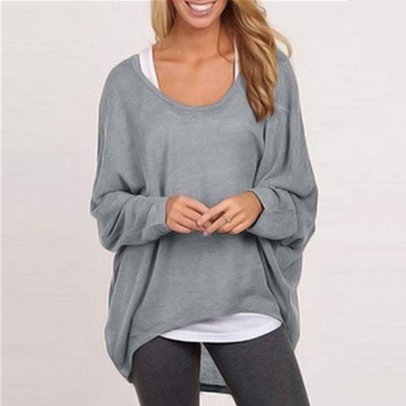 Casual Asymmetrical Long Sleeve Pullover